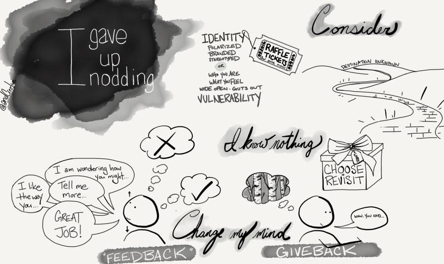 I Gave Up Nodding Sketchnote