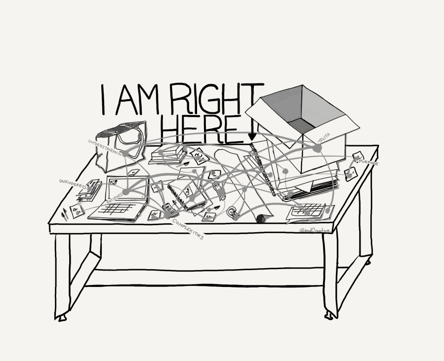 I Am Right Here Sketch